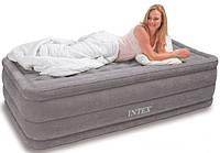 Элегантная надувная кровать с встроенным насосом 67952, флокированная поверхность,102*203*46 см