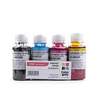 Комплект чернил HP 121/134 4х100мл ColorWay (CW-HW350SET01)
