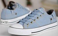 Мужские кеды Converse Retro, кеды конверс ретро голубые