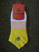 Носки Converse низкие, желтые
