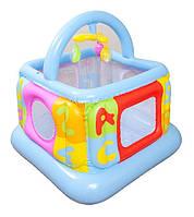 Удобный надувной манеж для детей Intex 48473, квадратный, 117*117*117см