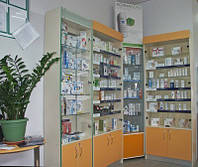Витрина аптечная на заказ