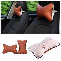 Автомобильная подушка для шеи на подголовник.