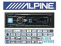 Автомагнитола Alpine CDE-195BT USB CD BT процессорная
