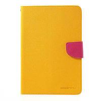 Чехол-Книжка Apple iPad mini Retina / iPad mini 3 Mercury Fancy Diary Series Желтый / Малиновый