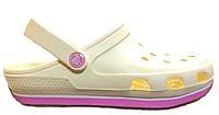 Женские кроксы Crocs Duet Sport Clog бежевые