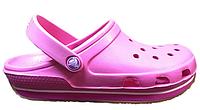 Женские кроксы Crocs Duet Sport Clog розовые