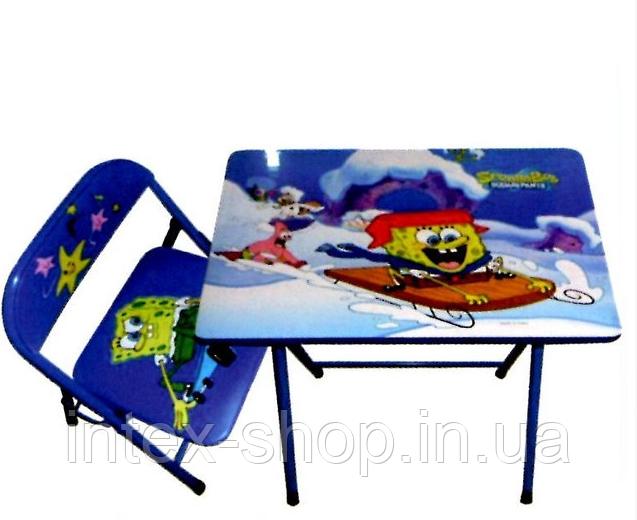 """Детская парта-столик со стульчиком """"Спанч Боб"""""""