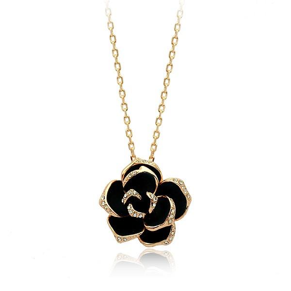 Кулон Rose Gold ювелірна біжутерія покриття золото 18К 750 проба декор Swarovski