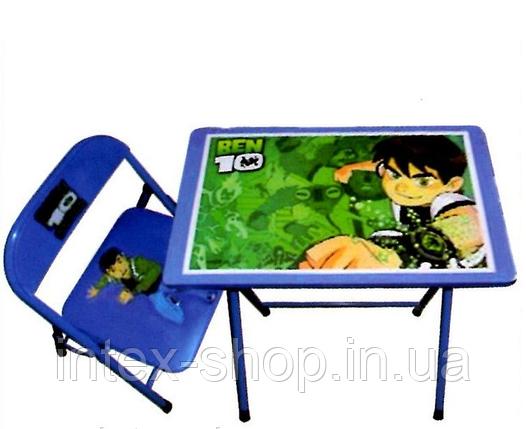Детская парта-столик со стульчиком Ben 10, фото 2