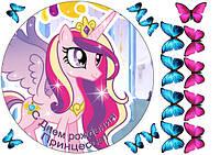 Вафельная картинка для тортов Принцесса 7