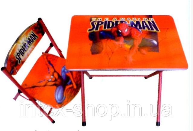 """Детская парта-столик со стульчиком """"Человек паук"""""""