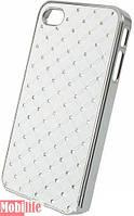Накладка для HTC Desire 500 пластик Diamond Cover белый