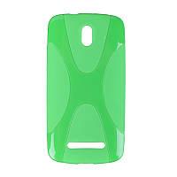 Накладка для HTC Desire 500 силикон New Line X-Series зеленый