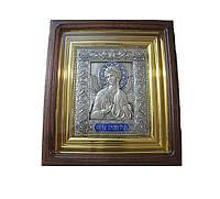 Эксклюзивная икона ручной работы с посеребрением и позолотой купить в Харькове