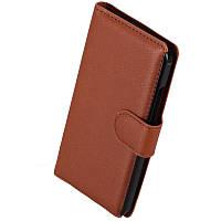 Чехол-Книжка для HTC Desire 300 коричневый