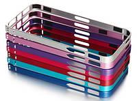 Бампер для iPhone 4/4S металл LOVE MEI Ultrathin красный