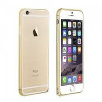 Бампер для iPhone 5/5S металл LOVE MEI Ultrathin Золотой