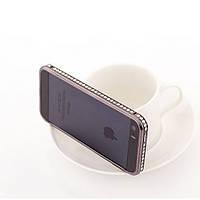 Бампер для iPhone 5/5S металл с камнями Infinity черный