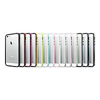 Бампер для iPhone 5/5S пластик SGP Case Neo Hybrid EX Slim Metal Series Metal slate (SGP10037)