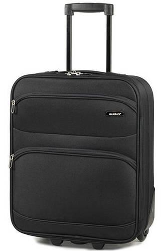 Практичный тканевый 2-х колесный чемодан 26 л. Members Topaz (S), 922610 черный