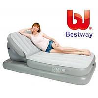 Надувная кровать BestWay 67386, с поднимающейся спинкой, 211х104см, высота 81см