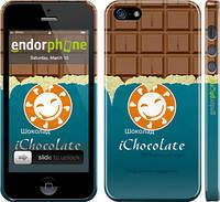 Накладка для iPhone 5/5S пластик Endorphone Шоколадка глянец (1098c-21-308)