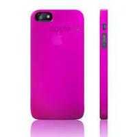 Накладка для iPhone 5/5S пластик Luardi Crystal Case фиолетовый (lip5gMcPRP)