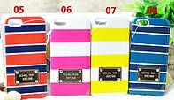 Накладка для iPhone 5/5S пластик MICHAEL KORS Stripe Case Красный / Синий (MK-VERT-RDBL)