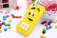 Накладка для iPhone 5/5S силикон Infinity 3DMulti M&M желтый (3D)