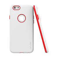 Накладка для iPhone 6/6s TPU+PC Araree Amy case Белый/Красный (ARIP6AM4 изитрейд)
