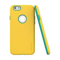 Накладка для iPhone 6/6s TPU+PC Araree Amy case Желтый/Зеленый (AR20-00096)
