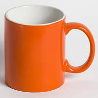 Чашка сублимационная Хамелеон ОРАНЖЕВАЯ глянец