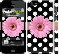 Накладка для iPhone 6/6s пластик Endorphone горошек 2 глянцевый (2147c-45-308)