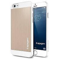 Накладка для iPhone 6/6s пластик SGP Case Aluminum Fit Series Золотой