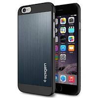 Накладка для iPhone 6/6s пластик SGP Case Aluminum Fit Series Темно-серый (SGP10946)