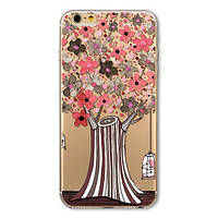 Накладка для iPhone 6/6s силикон 0,3mm Infinity Slim Glamour цветущее дерево