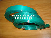 Лента ПЕТ упаковочная 15,5 х 0,6 зеленая рифленная