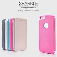 Чехол-Книжка для iPhone 6/6s Nillkin Sparkle Series розовый