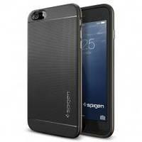 Накладка для iPhone 6 Plus/6s Plus пластик Spigen Case Neo Hybrid Series матовый Черный / Серебряный