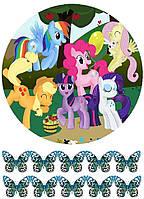 Вафельная картинка для тортов Принцессы 19