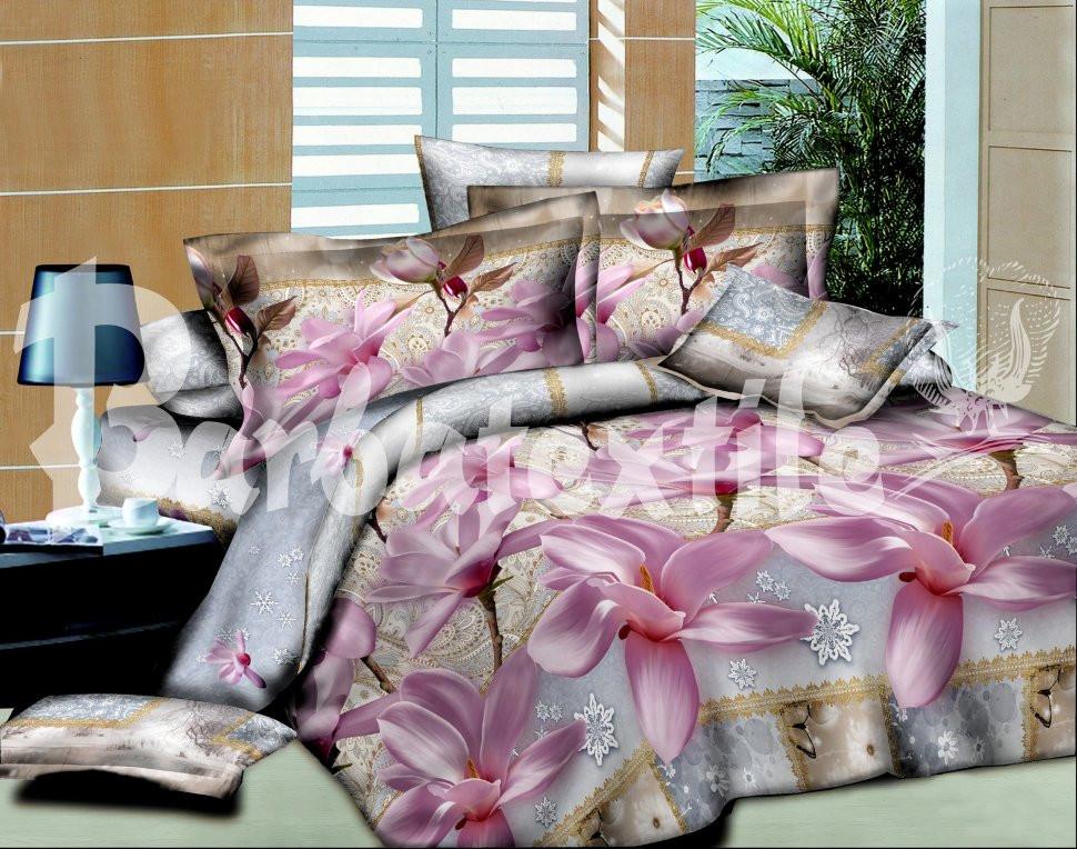 Двуспальный набор постельного белья 180*220 из Ранфорса №171 Черешенка™