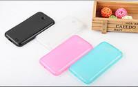 Накладка для LG D320 / LG D325 Optimus L70 силикон TPU розовый (+ пленка)