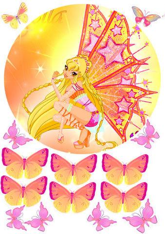 Вафельная картинка для тортов Принцесса 28