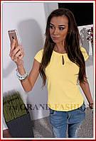 """Блузка Летняя супер-лёгкая """"Капля"""" цвет жёлтый"""