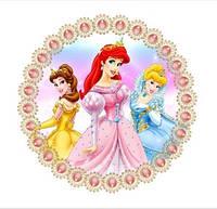 Вафельная картинка для тортов Принцессы 28