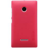 Накладка для Microsoft Lumia 532 (Nokia) пластик Nillkin Matte красный (+пленка)