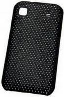 Накладка для Nokia X3-02 пластик-сетка черный (черная)