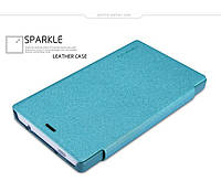 Чехол-Книжка для Nokia X2 Nillkin Sparkle Series бирюзовый -6184398