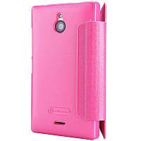 Чехол-Книжка для Nokia X2 Nillkin Sparkle Series розовый